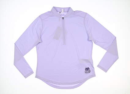 New W/ Logo Womens Under Armour Golf Long Sleeve Polo Large L Purple MSRP $72