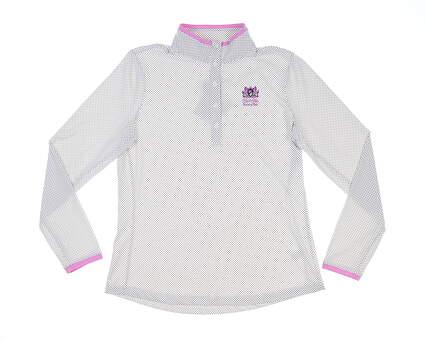New W/ Logo Womens Fairway & Greene Golf Long Sleeve Polo Medium M White MSRP $135