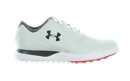 New Mens Golf Shoe Under Armour UA Performance SL Wide 10.5 White/Black MSRP $150 1297177-101