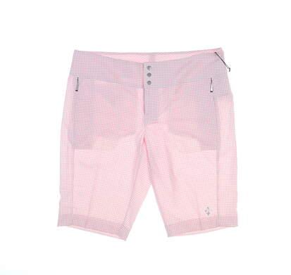New Womens Jo Fit Golf Shorts 6 Pink MSRP $98 GB507-BLC