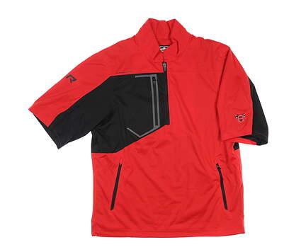 New W/ Logo Mens Sun Mountain RFX Short Sleeve Rain Jacket Medium M Red MSRP $145 C80220