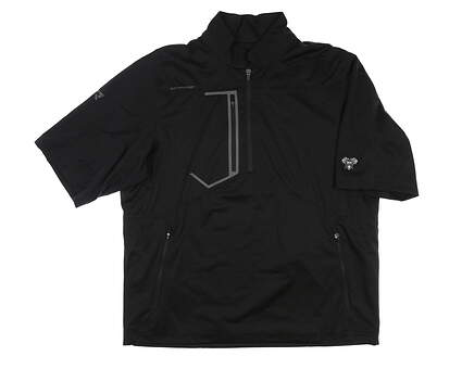 New W/ Logo Mens Sun Mountain RFX Short Sleeve Rain Jacket X-Large XL Black MSRP $145 C80220