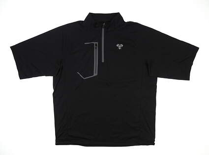 New W/ Logo Mens Sun Mountain Zephyr Short Sleeve Rain Jacket Large L Black MSRP $105 C90309