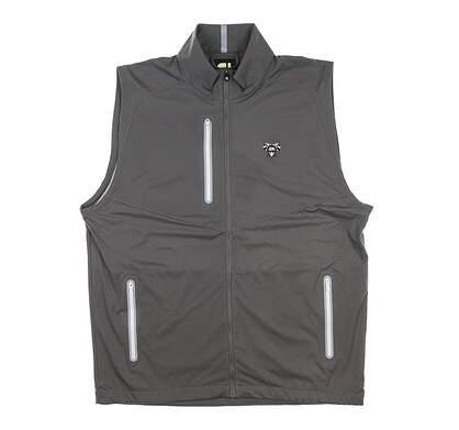 New W/ Logo Mens Footjoy Full-Zip Lightweight Vest Large L Charcoal MSRP $155 25019