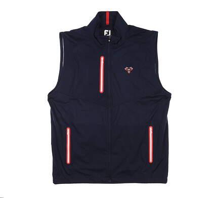 New W/ Logo Mens Footjoy Full-Zip Lightweight Vest Medium M Navy MSRP $155 25017