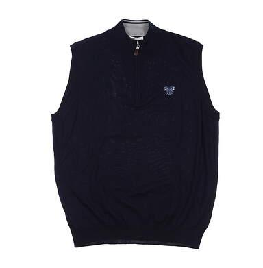 New W/ Logo Mens Peter Millar Golf Sweater Vest X-Large XL Navy MSRP $148 ME0S54