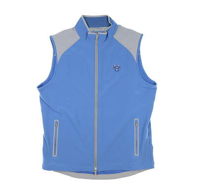 New W/ Logo Mens Peter Millar Zephyr Vest Medium M Blue MSRP $140 MS19EZ28