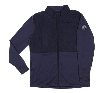 New W/ Logo Mens Straight Down Boundary Jacket Medium M Indigo MSRP $145 60470