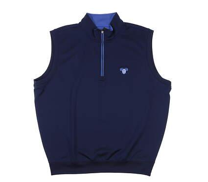 New W/ Logo Mens Fairway & Greene Tech Solid 1/4 Zip Vest X-Large XL Marine MSRP $98 C11513