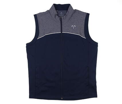 New W/ Logo Mens Adidas Go-To Vest X-Large XL Navy MSRP $90 EC1816
