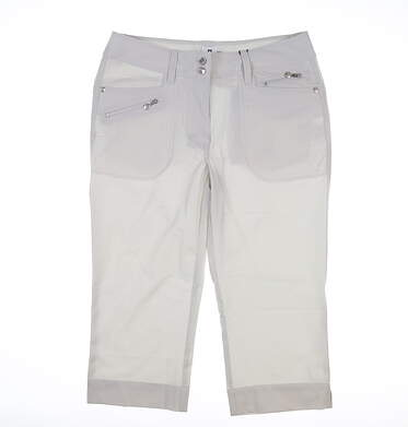 New Womens Daily Sports Miracle Capris 6 Gray MSRP $127 843/217