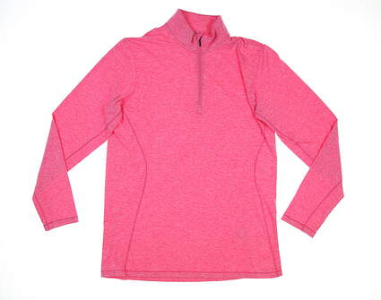 New Womens Sun Mountain 1/4 Zip Golf Pullover Large L Magenta Heather MSRP $60 W90312