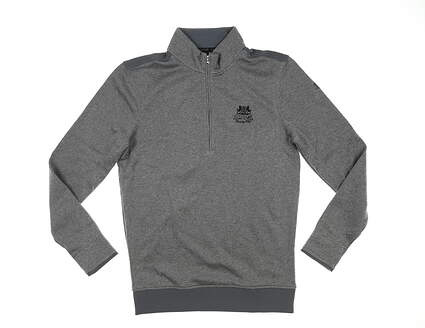 New W/ Logo Mens Under Armour 1/4 Zip Golf Pullover Small S Gray MSRP $75 UM1297