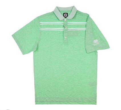 New W/ Logo Mens Footjoy Golf Polo Small S Kelly Green/White MSRP $90 26036