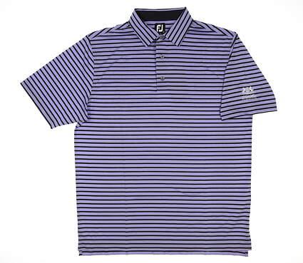 New W/ Logo Mens Footjoy Golf Polo Large L Lavender/Black MSRP $90 26415
