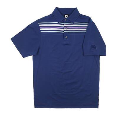 New W/ Logo Mens Footjoy Golf Polo Small S Deep Blue MSRP $90 26186