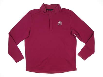 New W/ Logo Mens Under Armour Golf Long Sleeve X-Large XL Purple MSRP $80 UM0651