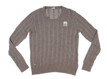 New W/ Logo Womens Daily Sports Nadja Pullover Sweater Medium M Brown MSRP $125