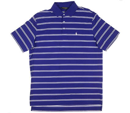 New Mens Ralph Lauren Golf Polo Large L Foster Blue MSRP $90 0404047
