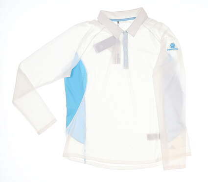 New W/ Logo Womens Adidas Golf Long Sleeve Polo X-Large XL White MSRP $65 121015883