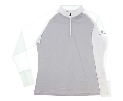 New W/ Logo Womens Footjoy Golf 1/4 Zip Pullover X-Large XL Gray MSRP $95 27625