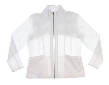 New Womens Tail Golf Jacket Large L White MSRP $93