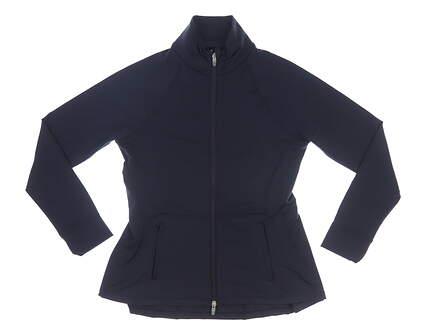 New Womens Peter Millar Golf Pullover Medium M Navy Blue MSRP $129 LF19EK16