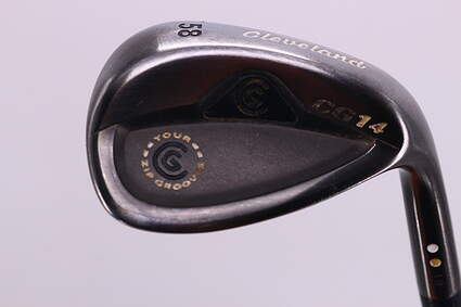Cleveland CG14 Gunmetal Wedge Lob LW 58° 12 Deg Bounce Cleveland Traction Wedge Steel Wedge Flex Right Handed 35.25in