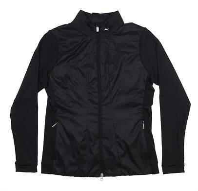 New Womens KJUS Retention Jacket Medium M Black LG15-B02 MSRP $199