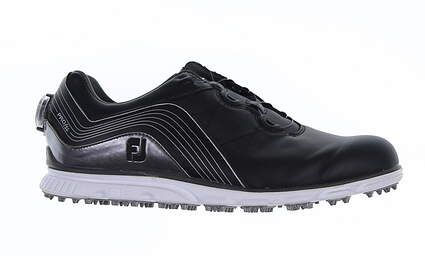 New Mens Golf Shoe Footjoy Pro SL BOA Medium 9.5 Black 53275 MSRP $190