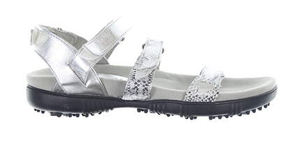 New Womens Sandbaggers Golf Sandal 8 Silver MSRP $140