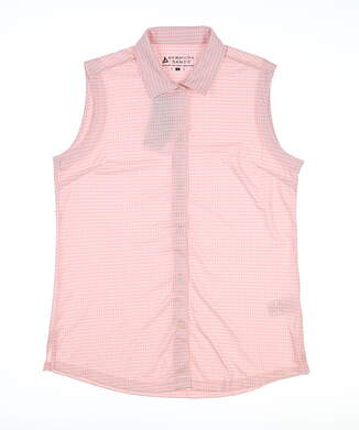 New Womens Bermuda Sands Sleeveless Button Up Medium M Rosy Pink 429 MSRP $75