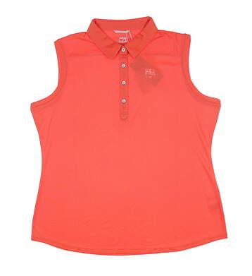 New Womens Cutter & Buck Sleeveless Polo X-Large XL Orange LCK08681 MSRP $61