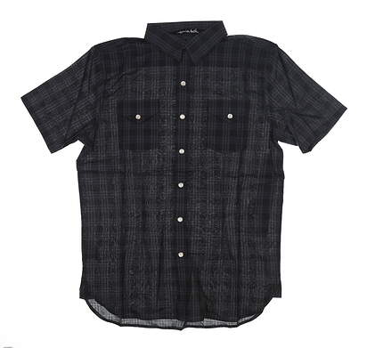 New Mens Travis Mathew Fountain Button Up Medium M Green 11360206 MSRP $85
