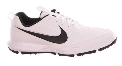 New Mens Golf Shoe Nike Explorer 2 Medium 14 White/Black 849957 100 MSRP $75