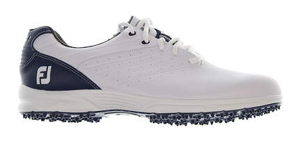 New Mens Golf Shoe Footjoy FJ Arc SL Wide 9.5 White/Blue 59701 MSRP $100