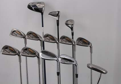 Mens Complete Golf Club Set Right Handed Stiff Flex Callaway Driver Ping Irons Odyssey Putter RH MSRP $ 1899