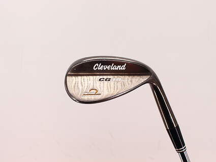 Cleveland CG15 Black Pearl Wedge Gap GW 52° 10 Deg Bounce Cleveland Traction Wedge Steel Wedge Flex Right Handed 35.75in