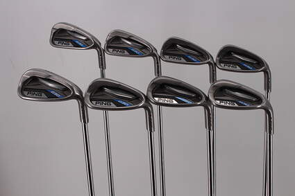 Ping G30 Iron Set 5-PW GW SW Ping CFS Distance Steel Stiff Right Handed Maroon Dot 39.25in