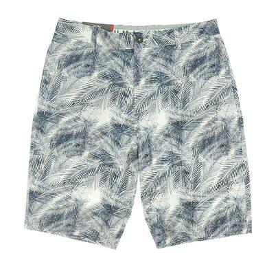 New Mens Puma Plams Shorts 32 Blue MSRP $75 596379