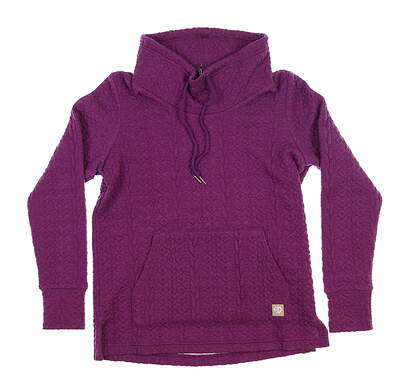 New Womens Straight Down Becky Cowl Pullover Small S Purple W60304 MSRP $110