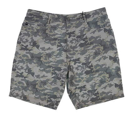 New Mens Straight Down Camo Golf Shorts 36 Green 40151 MSRP $90