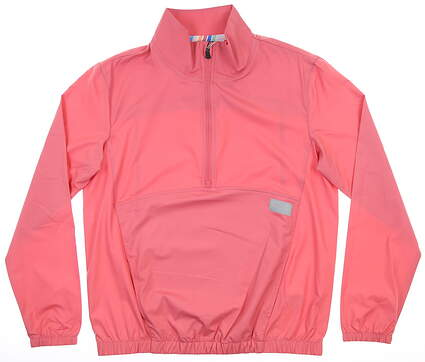 New Womens Puma 1/2 Zip Wind Breaker Small Rapture Rose MSRP $80 595846 01