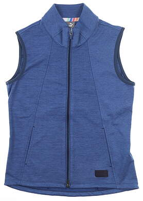 New Womens Puma Warm Up Vest Small S Dark Denim MSRP $70 595852 02