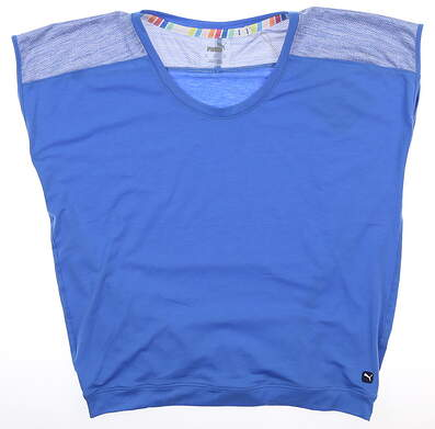 New Womens Puma Slouchy T-Shirt Small S Palace Blue MSRP $50 595839 03