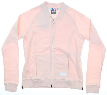 New Womens Puma Bomber Golf Jacket Small S Rosewater MSRP $98 595845 04