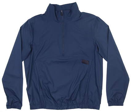 New Womens Puma 1/2 Zip Wind Breaker Small S Dark Denim MSRP $80 595846 02