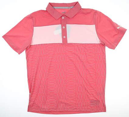 New Mens Puma Surf Town Polo Medium M Rapture Rose MSRP $70 596380 01