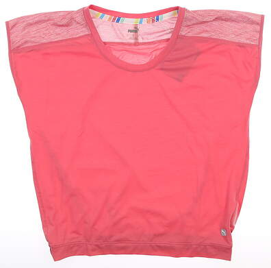 New Womens Puma Slouchy T-Shirt Small S Rapture Rose MSRP $50 595839 01