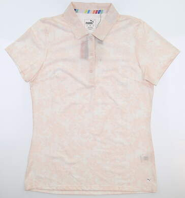 New Womens Puma Roses Polo Small S Rosewater MSRP $60 595837 02